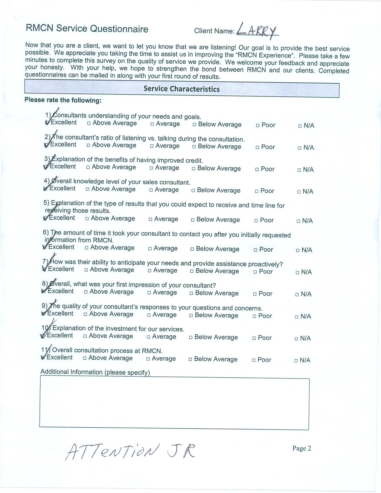 JR Lopez - RMCN Credit Repair Survey
