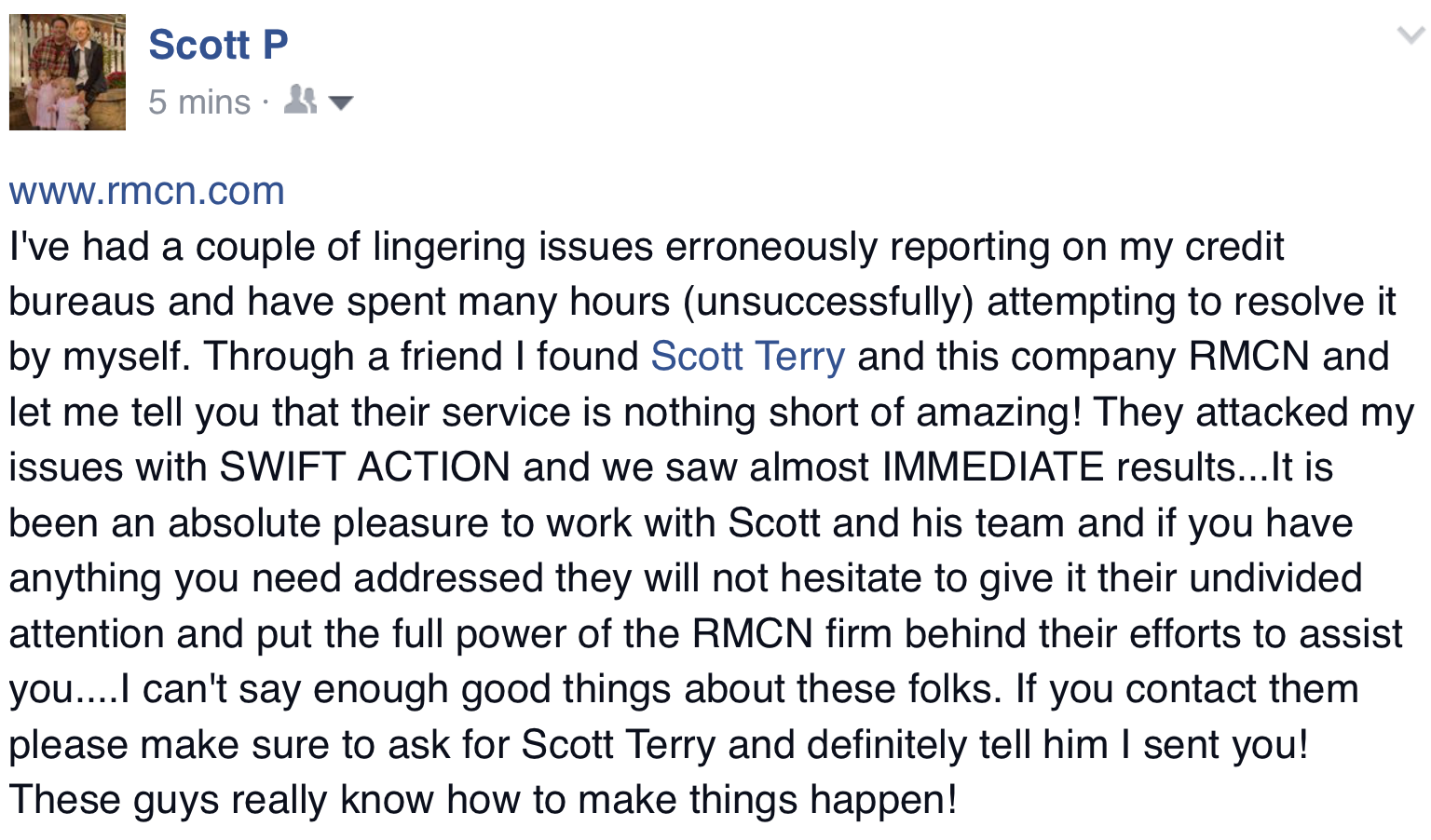 RMCN - Scott Terry Testimonial
